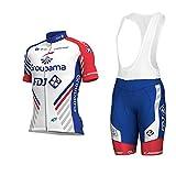 Wulibike Maillot Cyclisme Homme Vetement Sport Velo Manches Courtes Tenue Equipe Pro Été