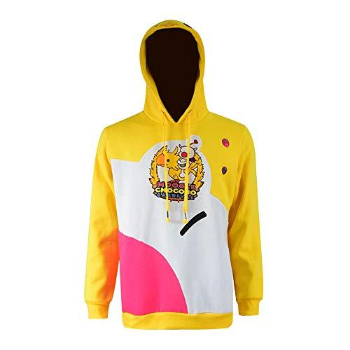 Zhangjianwangluokeji FF15 Fantasy Moogle Chocobo Karneval gelb Sweatshirt Nachtwäsche mit Kapuze (L, Color 1)