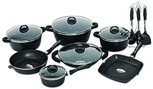Schumann professionnel sba2202700 black rock lot de 27 - Batterie de cuisine the rock ...