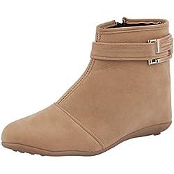 ABJ Fashion Women's Stylish Beige Boots7 UK