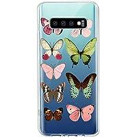 Oihxse Funda Conpatible con Samsung Galaxy M40/A60 Silicona Transparente Dibujos Mariposa Cover Suave TPU Gel Cristal Clear Delgada Anti- Arañazos Protección Carcasa Case,Multicolor 1