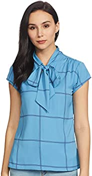 Amazon Brand - Symbol Women's Checkered Regular fit S