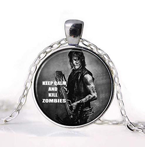 Die Walking Dead Halskette Anhänger Daryl Dixon Armbrust Rick Grimes Punk Gothic Gläser Alten Anhänger Halskette Geschenkkette