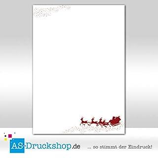 Designpapier Weihnachten - Rentierschlitten / 25 Blatt/DIN A4 / 90 g-Offsetpapier