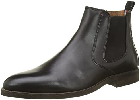 Tommy Hilfiger Essential Leather Boot, Botas Chelsea para Hombre