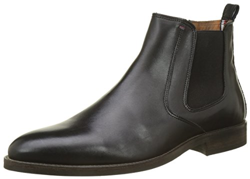 Tommy Hilfiger Men's Essential Leather Chelsea Boots, Black (Black), 8 UK 42...