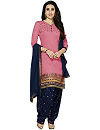 LORD'S Women's Cotton Dress Material (3PTH57_Free Size_PINK)
