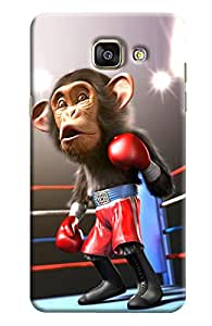 Omnam Monkey Doing Boxing Printed Designer Back Cover Case For Samsung Galaxy A7 (2016)
