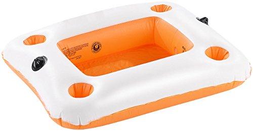 infactory Getränkehalter Wasser: Schwimmender Getränkehalter, ideal für 2-Personen-Wassersofa (Getränkehalter Pool)
