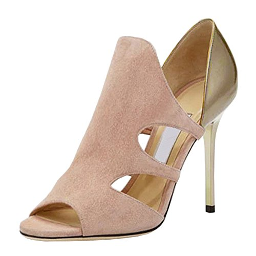 fereshte ,  Damen Peep Toes Beige and Gold