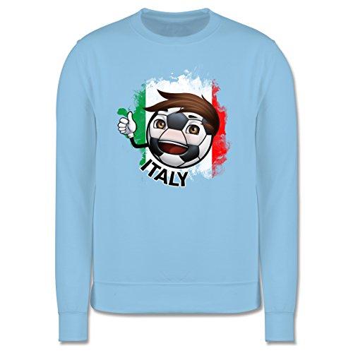 EM 2016 - Frankreich - Fußballjunge Italien - Herren Premium Pullover Hellblau