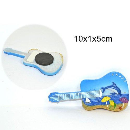 Calamita magnete chitarra decorazione mare 10cm