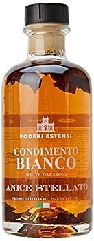Poderi Estensi Condiment au Vinaigre Balsamique Blanc à l'Anis Étoilé 250 ml - Lot de 4