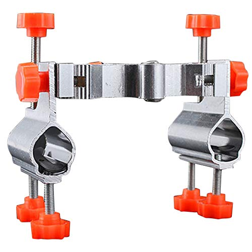 Ständer Unterstützung Einstellbarer Winkel Rod Rack Köder Tray Halter Zubehör Doppel Durable Umbrella Clamp Connector Mount Multifunktionale Aluminiumlegierung Halterung ()