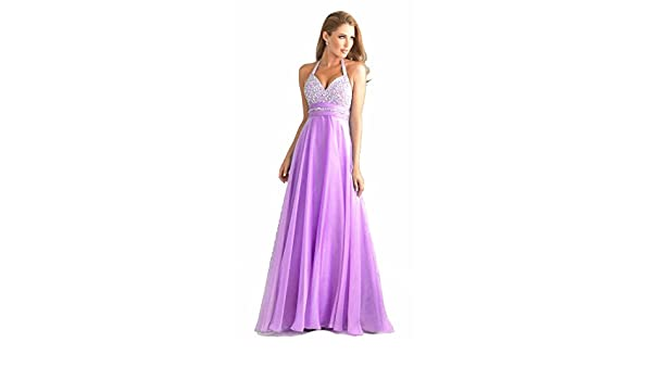 atopdress T8 lilac Evening helterneck prom sequined gown evening dress (16, Lilac): Amazon.co.uk: Clothing