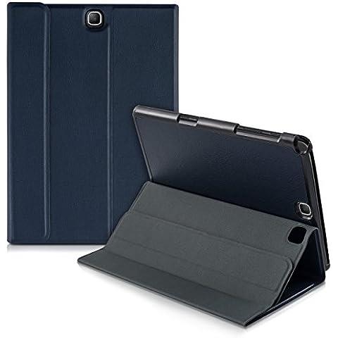 kwmobile Funda Slim Smart para Samsung Galaxy Tab A 9.7 con cierre magnético y soporte - funda de polipiel estilo libro en azul oscuro