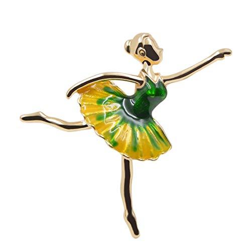 QWERTYEmaille Ballett Mädchen Broschen Für Frauen Kleine Tiny Kinder Abzeichen Bijouterie Broches Exquisite Kleid Corsage, 1