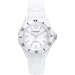 Cannibal Kid's Quartz Watch with White Dial Analogue Display and White Silicone Strap CK215-01