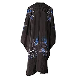 Phenovo Waterproof Salon Hair Cutting Hairdressing Cape Barber Gown Apron Cover Black