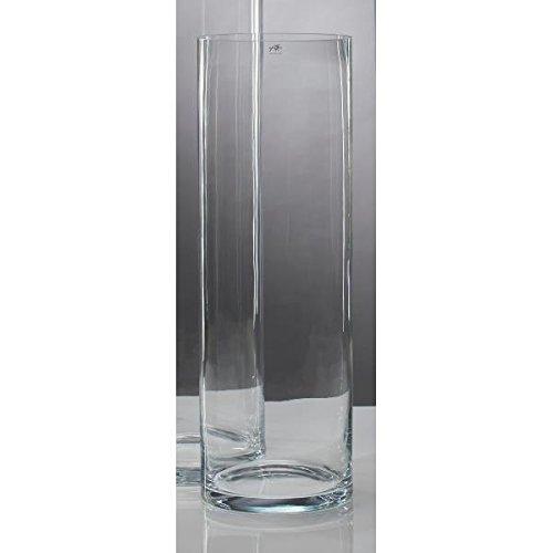 Glasvase Vase Glas Blumenvase Bodenvase Zylinder groß 90 cm