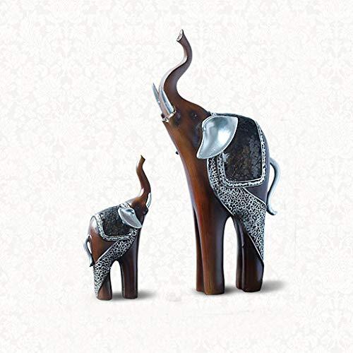 Escultura Resina Un par de elefantes Escultura Decoración Creativa Moderna Simple Personalidad...