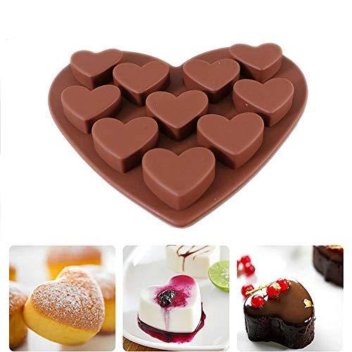 Wokee Silikonform Herzchen Praline Silikon Herz Eiswürfel Schokolade Liebe Herz Geformt Silikon Formen Fondant Kuchen Schokoladenform Form Süßigkeiten Deko Förmchen (Geformte Süßigkeiten Herz)