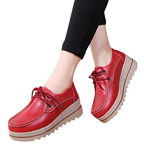 JYJM Schuhe Frauen Mutter Casual Loch Schuhe Krankenschwester Mit Flachen Schuhe Damen Casual Driving Schuhe Atmungsaktiv Volltonfarbe Sandalen Lässig Einfach Rutschfest ()