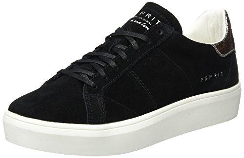 ESPRIT Damen elda lu Sneaker, Schwarz (Black), 39 EU