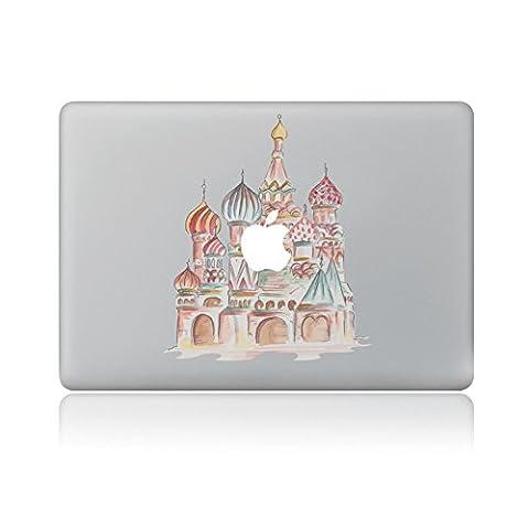 Macbook Aufkleber , Morbuy Removable Bunte Muster Fashion Macbook Sticker Aufkleber Skin Laptop Vinyl Decal Sticker Abziehbild Abziehbilder (15'', Gemalte (Architektur Blumen)