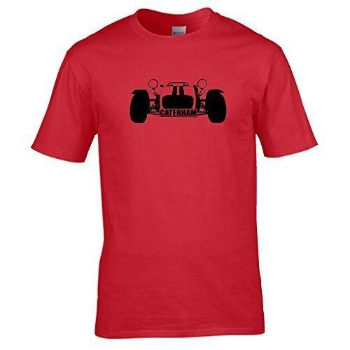 Naughtees clothing - Caterham super 7 T-shirt Für track tagen, sunny Tagen und Caterham Tagen Rot