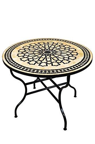 Original Marokkanischer Mosaiktisch Gartentisch O 100cm Gross Rund