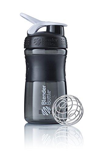 BlenderBottle Sportmixer Tritan Shaker | Protein Shaker| Wasserflasche| Fitness Shaker | BPA frei | mit BlenderBall | 590ml - Schwarz-weiß