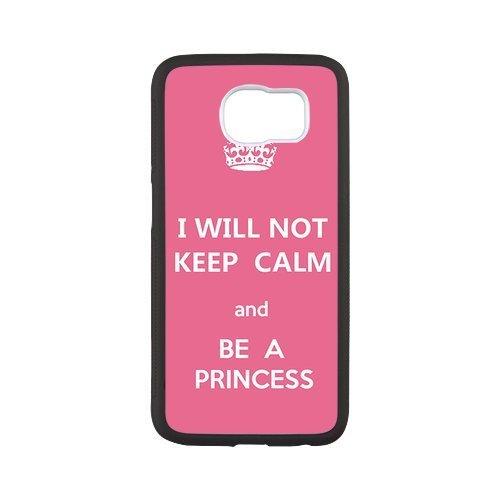 """@ all di design """"I Will Not Keep Calm and be a Princess Hot custodia protettiva per Samsung G9200Galaxy S6Edge +, S6Edge Plus, Phonecase e spina della polvere"""