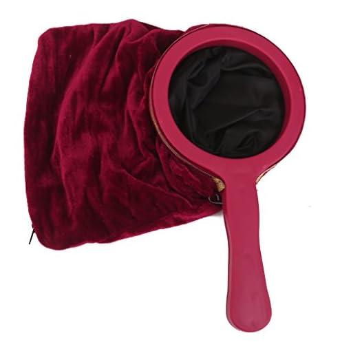 Sharplace-Magische-Tasche-Zauberbeutel-mit-Tragegriff-Reiverschluss-fr-Zaubertricks-Magie-Spielzeug-Weinrot