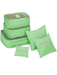 HOMIES INTERNATIONAL Multi-Purpose Colorful Set Of 6 Pieces Travel Pouches Organizer Of Different Sizes - Multi...