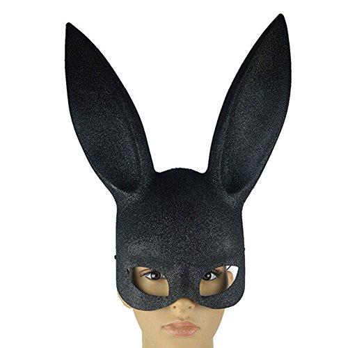skerade Maske Kaninchen Eyemask mit Ohren Bunny Maske für Halloween Party Kostüm Cosplay Dressing Up Requisiten Ball Ostern Karneval ()