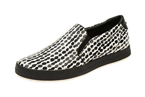 Geox  Geox Modesty Slipper weiß schwarz D4429C, Coupe fermées femme Noir - Noir