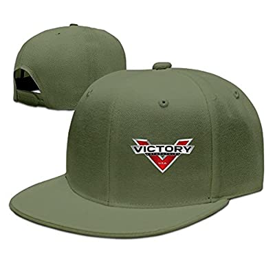 Hittings POY-SAIN Victory USA Motorcycle Logo Hip Hop Cap Hat For Adult Black ForestGreen