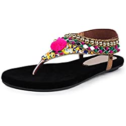 Do Bhai Sandal-558 Flat Sandal for Women (EU38, Copper)