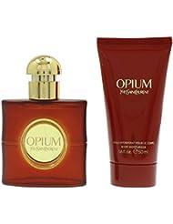 Yves Saint Laurent Opium pour femme Lot Contient Eau de toilette en flacon vaporisateur 30ml et lotion pour le...