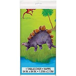 Mantel de Plástico - 2,13 m x 1,37 m - Fiesta de Dinosaurios