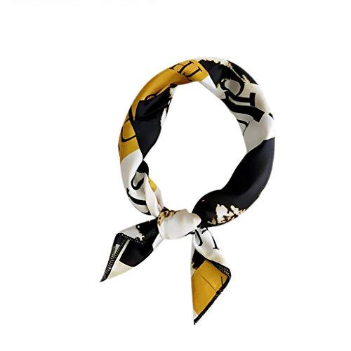 QIMANZI Doppelseitige Boxer langen Abschnitt Schal weiblichen koreanischen Version des Frühlings Herbst wilde Wrist Band Streamer Haarband Mode Fliege(C1)