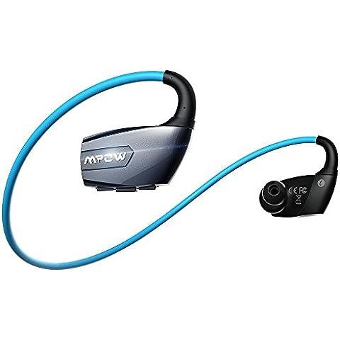 Mpow Antelope Sports Headphones Wireless Bluetooth 4.1 con Hands-free Chiamata,Lunga Durata, CVC6.0 Noise Diminuzione Per iPhone 6s 6s Plus 6 6 Plus 5 5c 5s 4s Samsung Galaxy S6 S5 S4 S3 Note 3 e Altri Smatphone-Blu