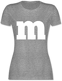 e489d8c388f8e8 Karneval   Fasching - Gruppen-Kostüm m Aufdruck - Damen T-Shirt Rundhals