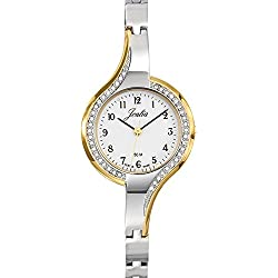 Joalia Women's Analogue Watch with White Dial Analogue Display and Metal Bicolour - 634582