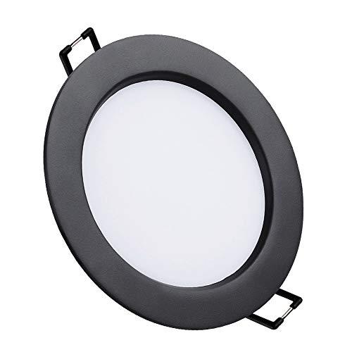Black Ultra Thin Downlight LED Proyector integrado Incrustado Aluminio Creativo Redondo Empotrado...