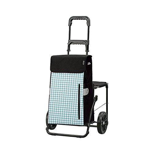 Andersen Shopper Komfort mit Sitz und 43 Liter Tasche Tilly türkis mit Kühlfach