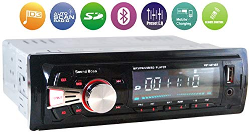 Sound Boss SB-48 Car Stereo with Bluetooth