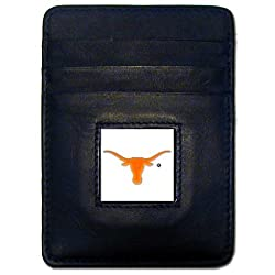 NCAA Texas Longhorns Leather Money Clip/Cardholder Wallet