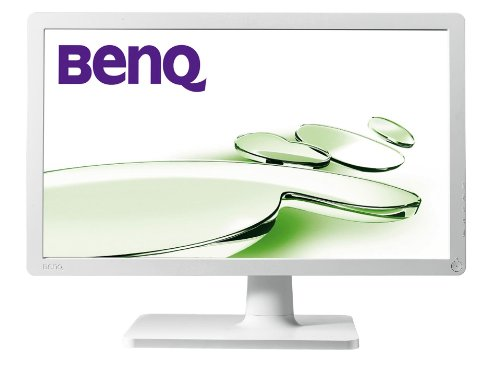 BenQ V2400 Eco 61 cm (24 Zoll) Widescreen 16:9 LED Monitor HDMi/ HDCP/ Analog (Kontrastverhältnis 5.000.000:1, Reaktionszeit 5ms) weiß